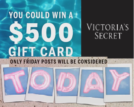1c14dad909a3a Victoria's Secret $500 Gift Card Twitter & Instagram Giveaway - 10 ...