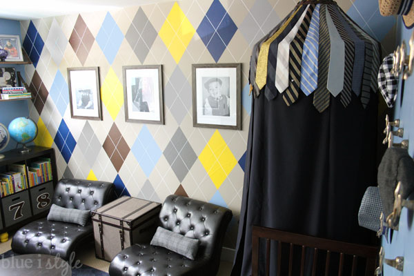 Menswear Inspired Boys Room