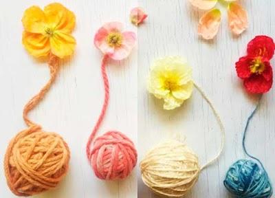 Tintes naturales con pétalos de flores, verduras e infusiones