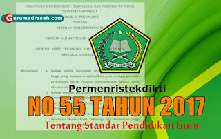 Permenristekdikti Nomor 55 Tahun 2017
