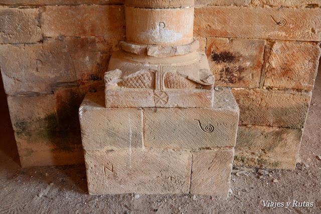 Marcas de canteros de la Iglesia del Monasterio de Moreruela