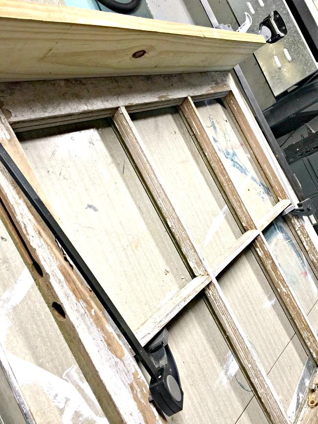 window shelf with new wood