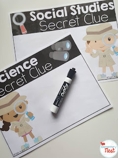 FREE ELA, Science, and Social Studies Integration- using clues to engage students during reading time to learn more about science and social studies