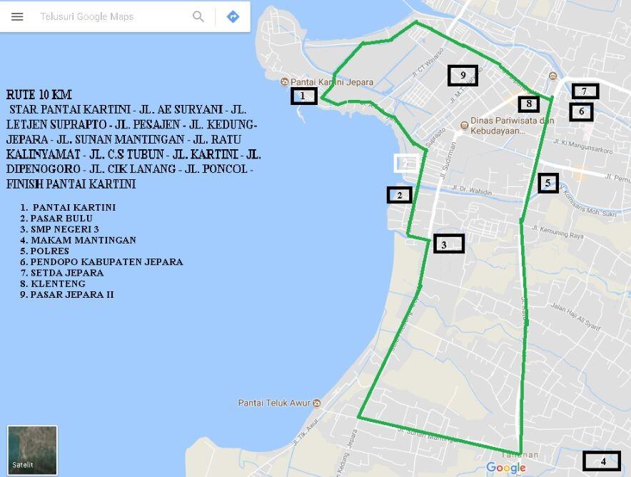 Route Jepara 10K • 2017