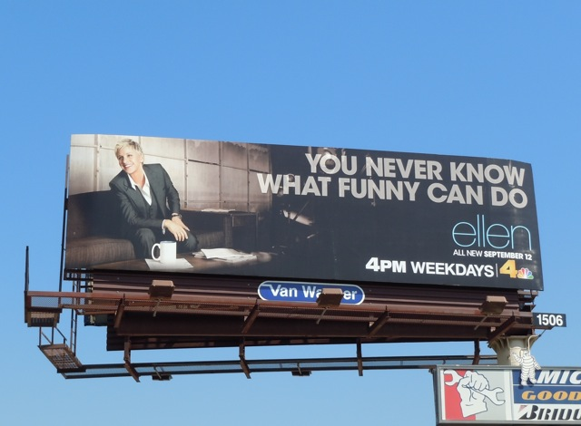 Ellen Never know billboard