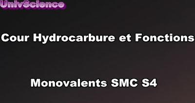 Cours Hydrocarbures et Fonctions Monovalents SMC S4 PDF