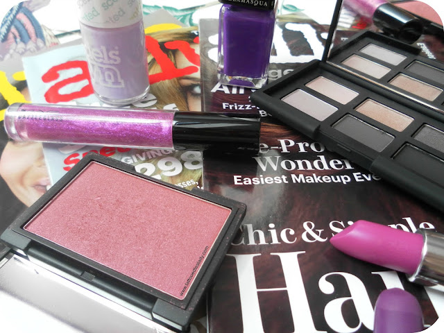 Purple beauty products