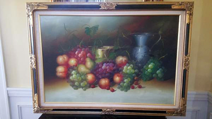 Framed oil painting, wall art - OKC Craigs list