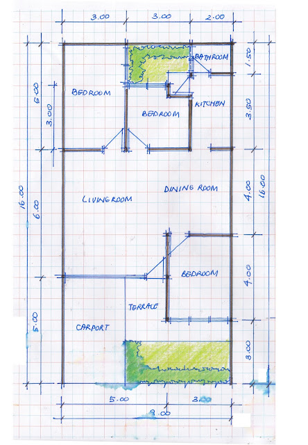 layout of house plan A-14b