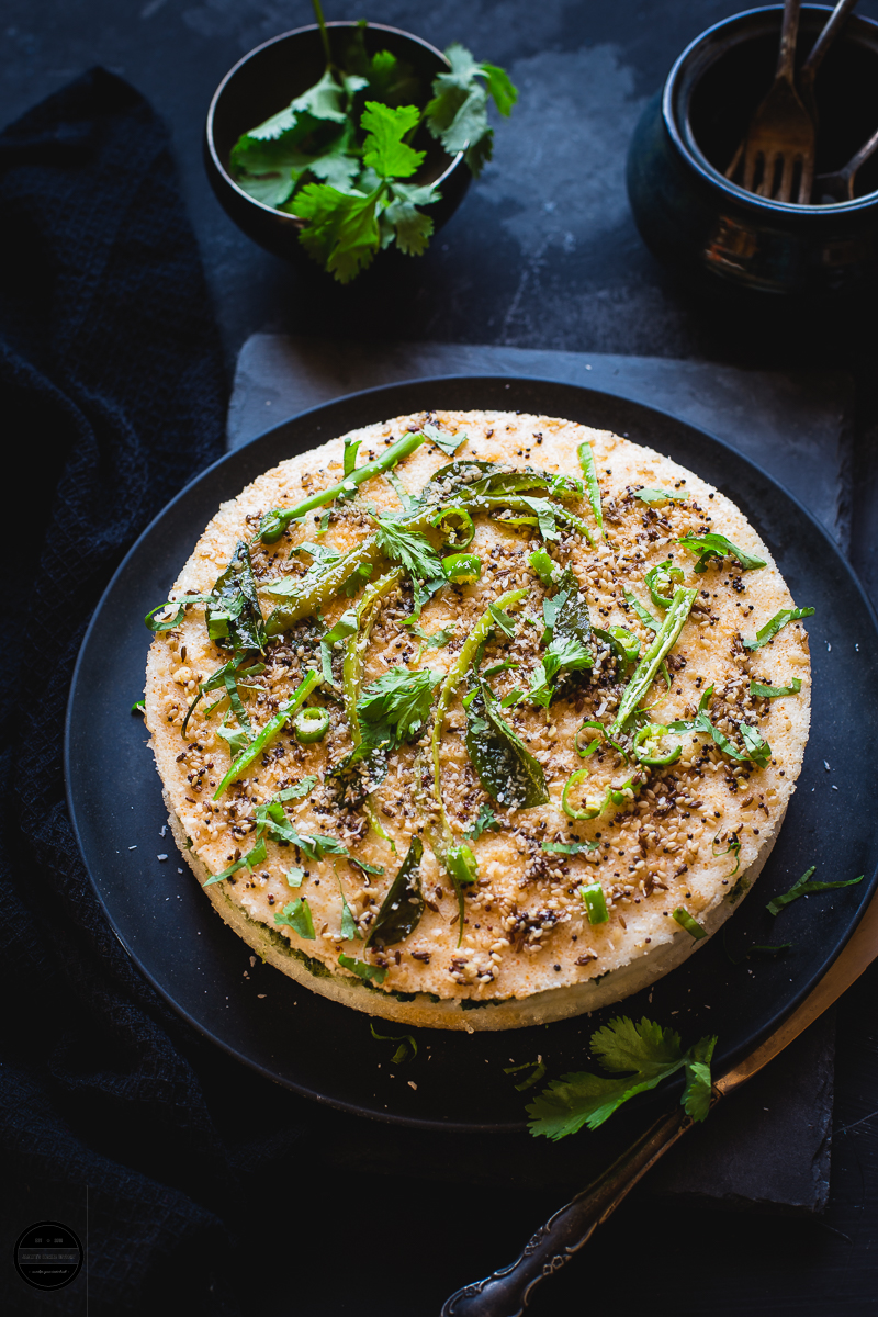 Khatta Sandwich Dhokla-Steamed Rice and Lentils Cake is a popular Gujarati item which is delicious and healthy dish that  can be eaten as breakfast, brunch or at lunch. They can be eaten hot or cold.