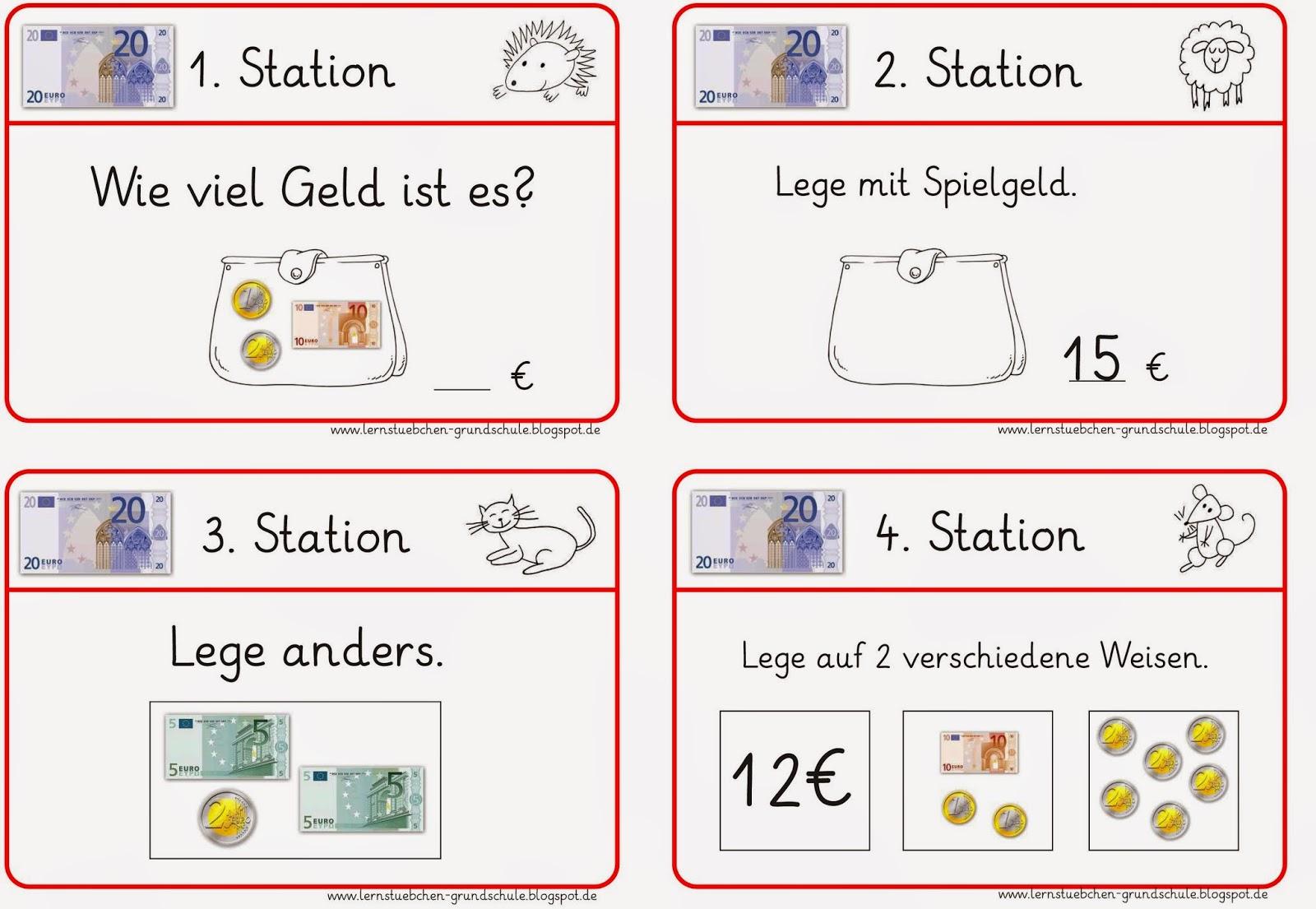 rechnen mit geld klasse 3 stationen