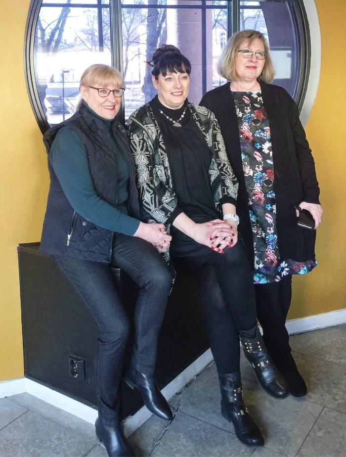 ladyt bloggaajien museopäivässä Aboa Vetus & Art Novassa