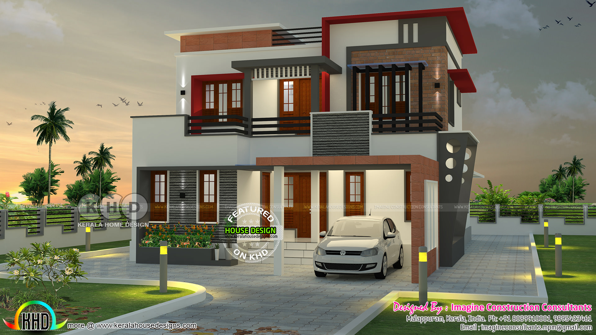 1900 square feet 4 bhk contemporary home kerala home for 1900 sq ft house plans kerala