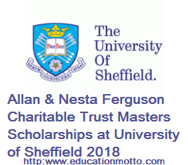 University of Sheffield, Scholarship, International, UK, Master Degree, University of Sheffield Scholarships 2018, Description, Study Courses, Eligibility Criteria, Method of Application,