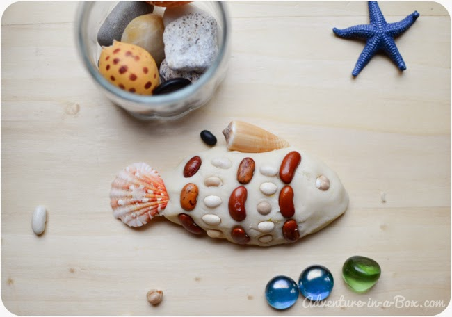Sesaside play dough, featured during ocean theme week preschool