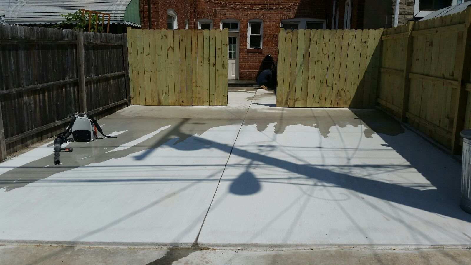 Baltimore Patio And Parking Pad Installation This Is In The Hampden Neighborhood We Service Entire Area Free Estimates