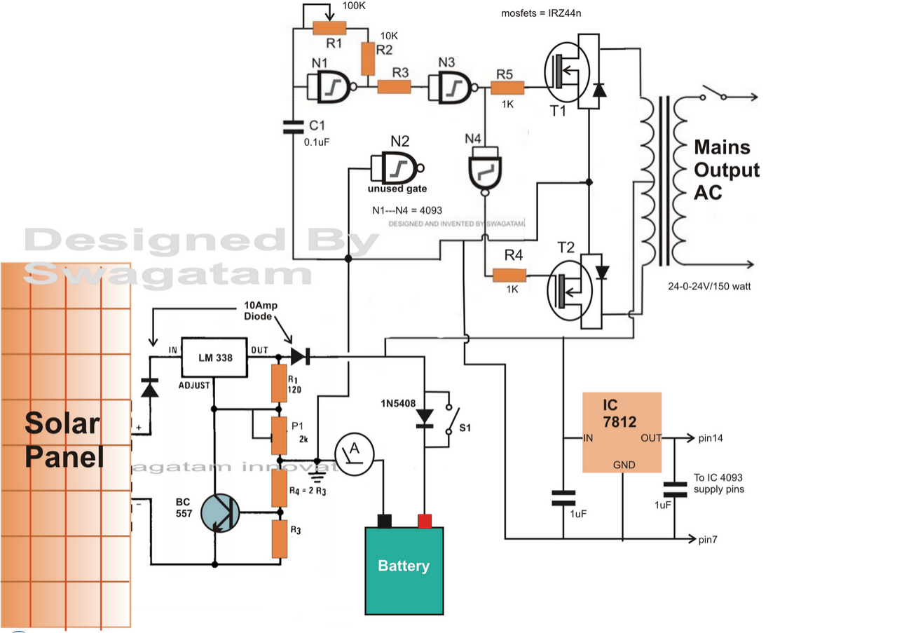 circuit diagram of inverter 12v to 230v circuit diagram of an inverter how to make a solar inverter circuit