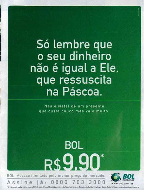 Campanha do provedor de internet BOL para o Natal de 2001