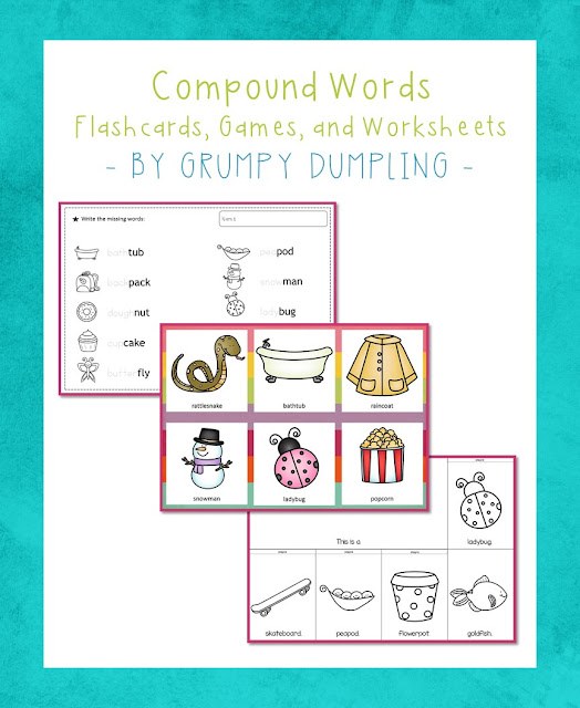 https://www.teacherspayteachers.com/Product/Compound-Words-Games-Flash-Cards-Tracing-Books-and-Flip-Books-2461670
