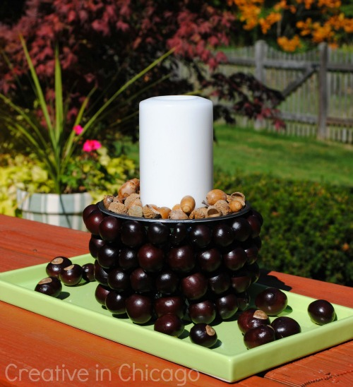 conker candle center piece