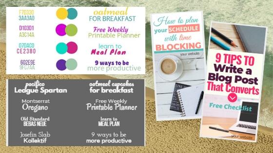 Pinterest templates. Canva designs.