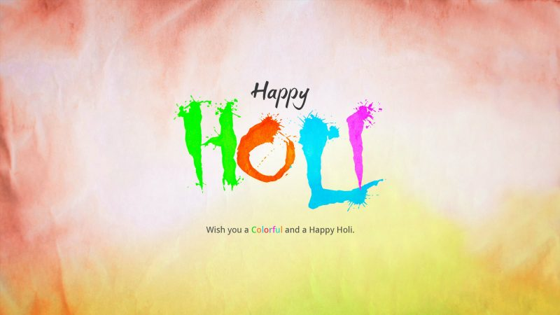 Happy Holi HD Cover Pics for Facebook