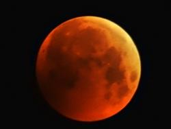 Vollmond am 21.01.2019 mit totaler Mondfinsternis (Blutmond)...