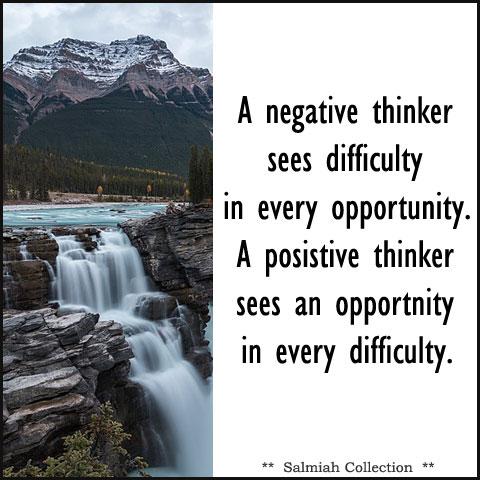 A positive thinker