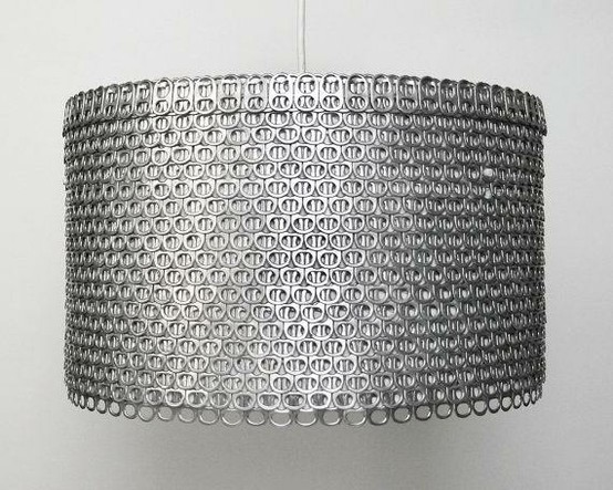 knutsel ideeen lamp van blik lipjes. Black Bedroom Furniture Sets. Home Design Ideas