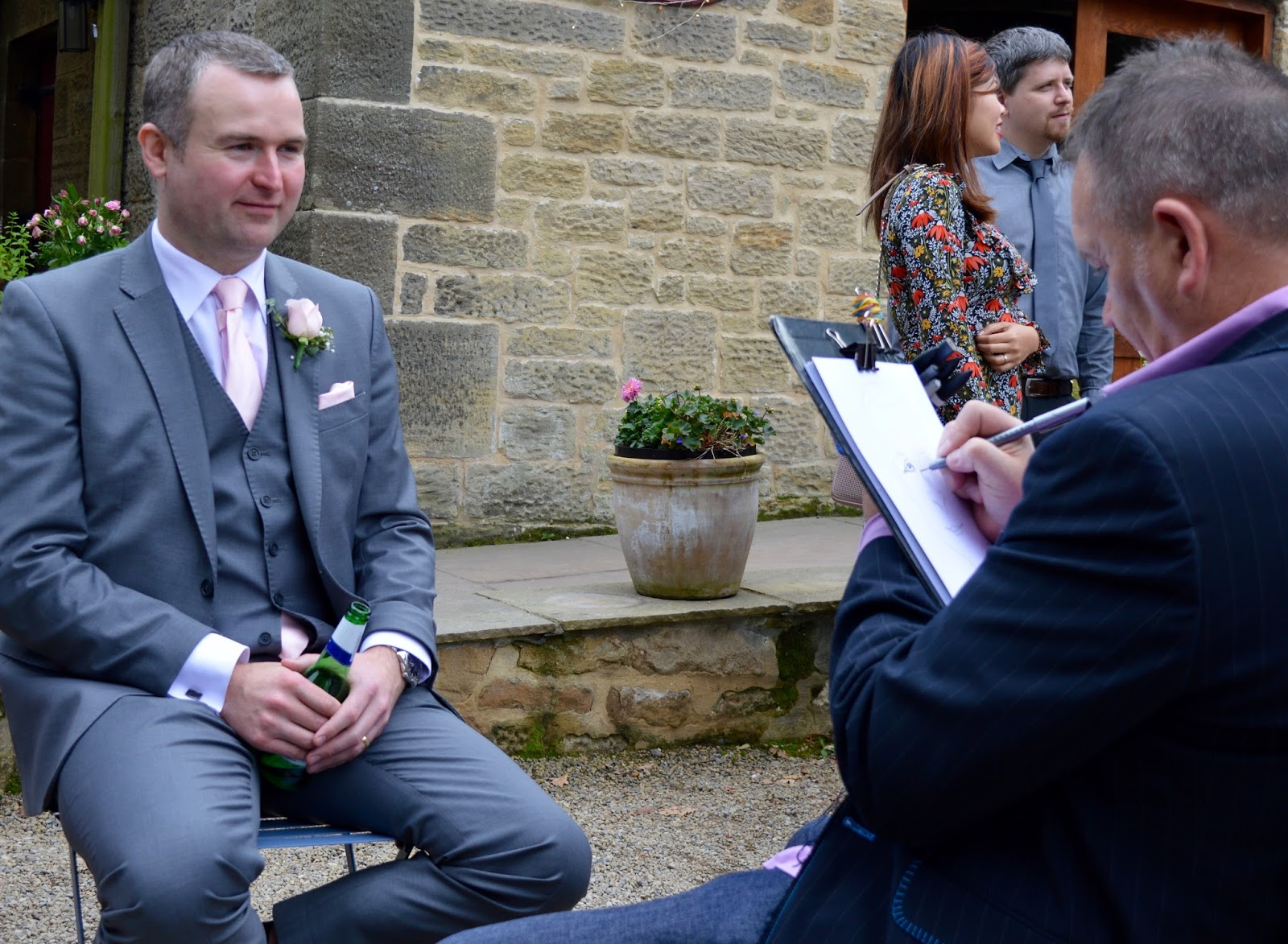 Weddings at The Parlour at Blagdon in Northumberland - caracaturist