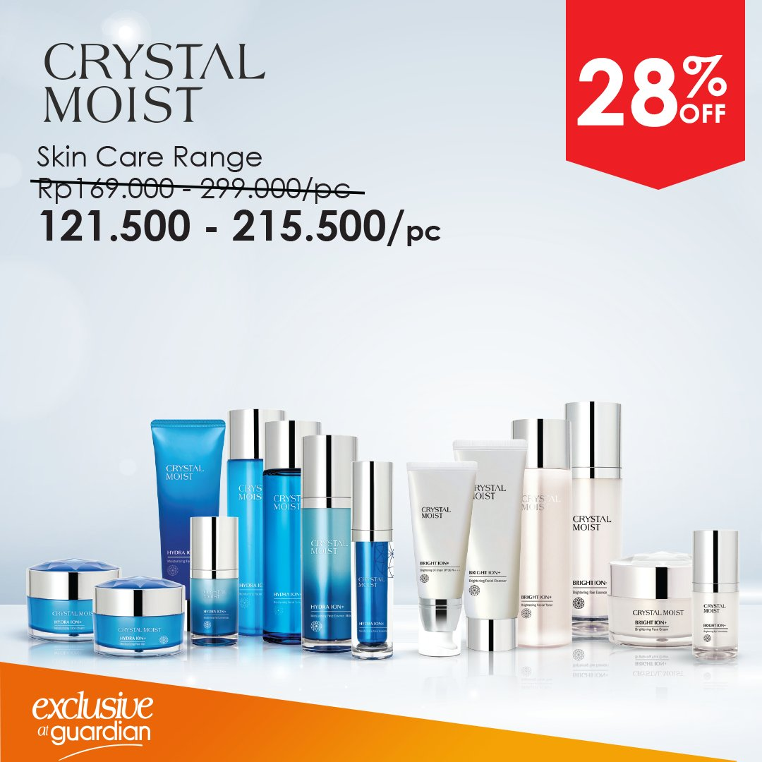 Guardian - Pomo Diskon 28% Produk Crystal Moist (s.d 19 Sept 2018)