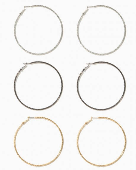 Charming Charlie Shira Twisted Hoop Earrings