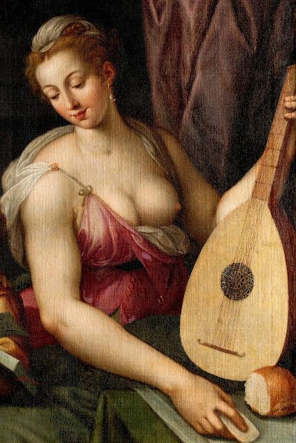 Frans Floris: Allegoria della Musica (dettaglio)