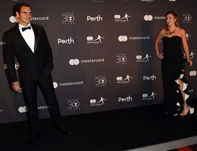 Photos of Belinda Bencic And Roger Federer At Hopman Cup New Years Eve Players Ball In Perth
