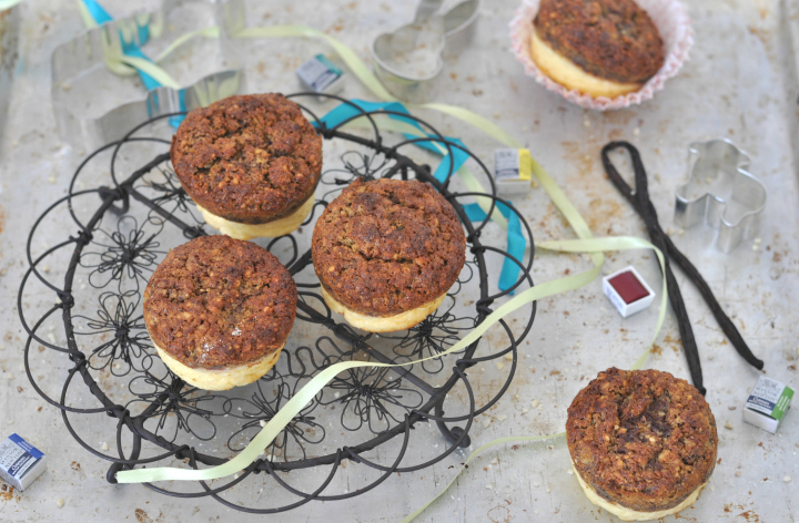 Carrot-Cheesecake-Muffins, a glutenfree treat for spring