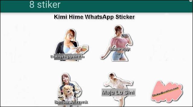 Stiker WhatsApp Kimi Hime YouTuber.jpg