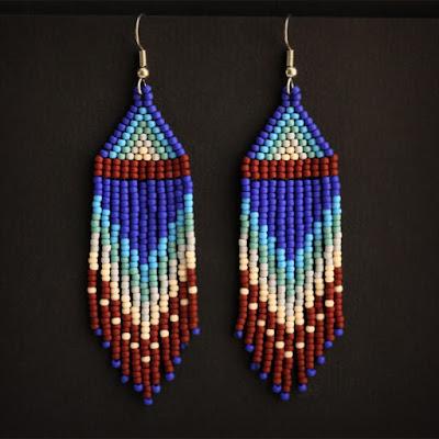 купить оригинальные сережки ручной работы в стиле бохо интернет магазине бижутерии в этно стиле
