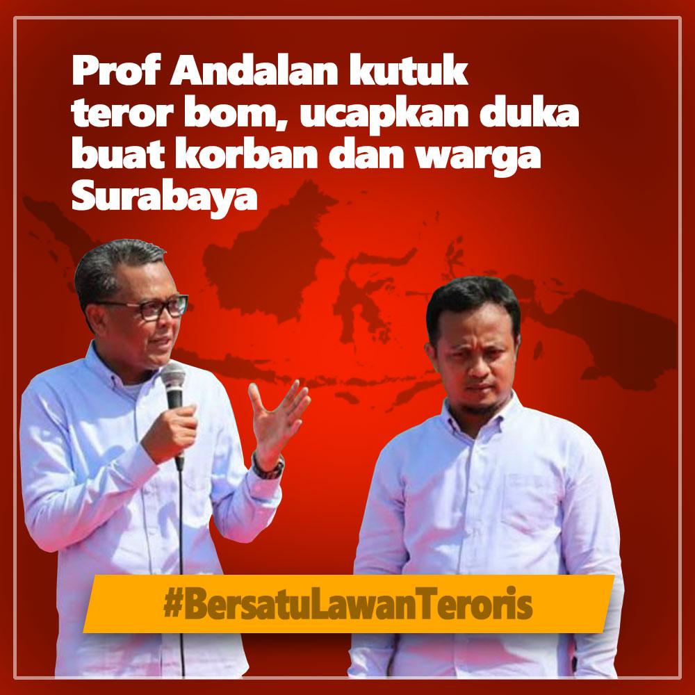 Prof Andalan Kutuk Teror Bom di Surabaya