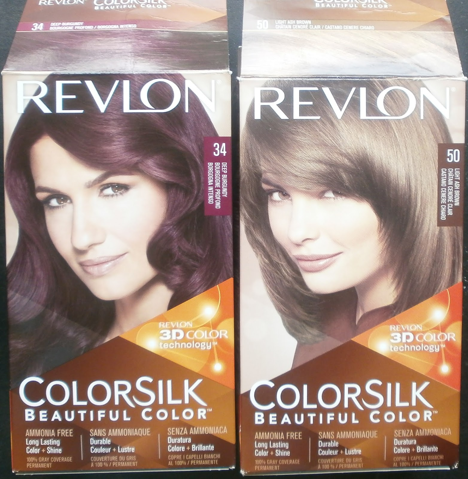 Revlon Colorsilk Hairdye In Shade Deep Burgundy Beauty And Dewdrop
