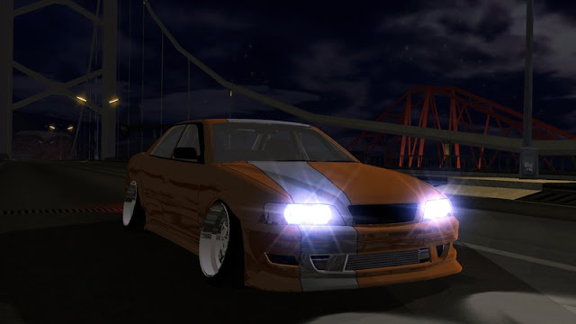 Toyota Chaser Tourer V JZX100 Tuned + DFF Only Mobile with lights turned on gtaam screenshot