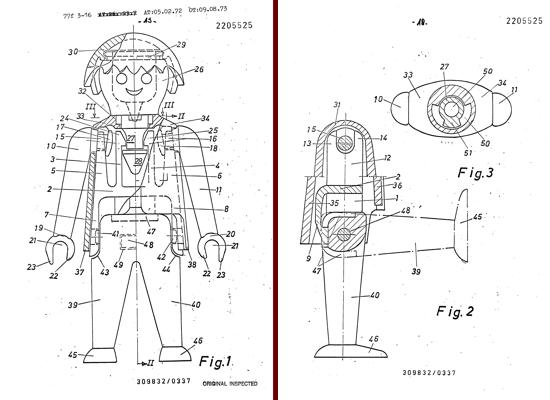 Playmobil patent 1972