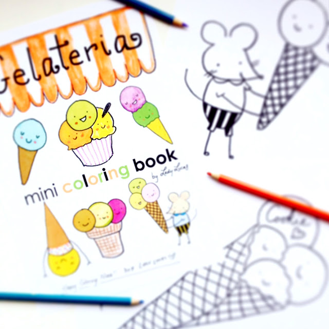 Day 4: Gelateria Coloring Book Giveaway | Linzer Lane Blog