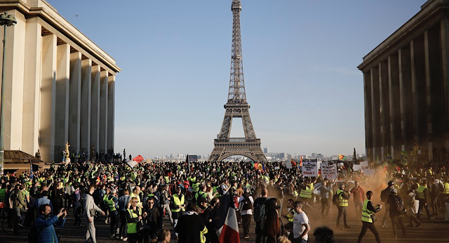 Thousands of yellow vest protesters take to the streets across France for a 15th weekend running as they try to re-invigorate supporters while trying to stamp out violence and anti-Semitism in the movement's ranks