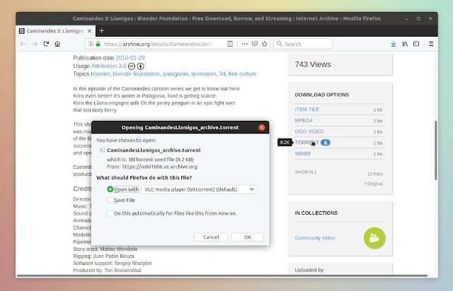 Firefox open torrent in VLC