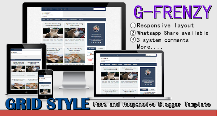 GFrenzy Responsive fast Blogger template