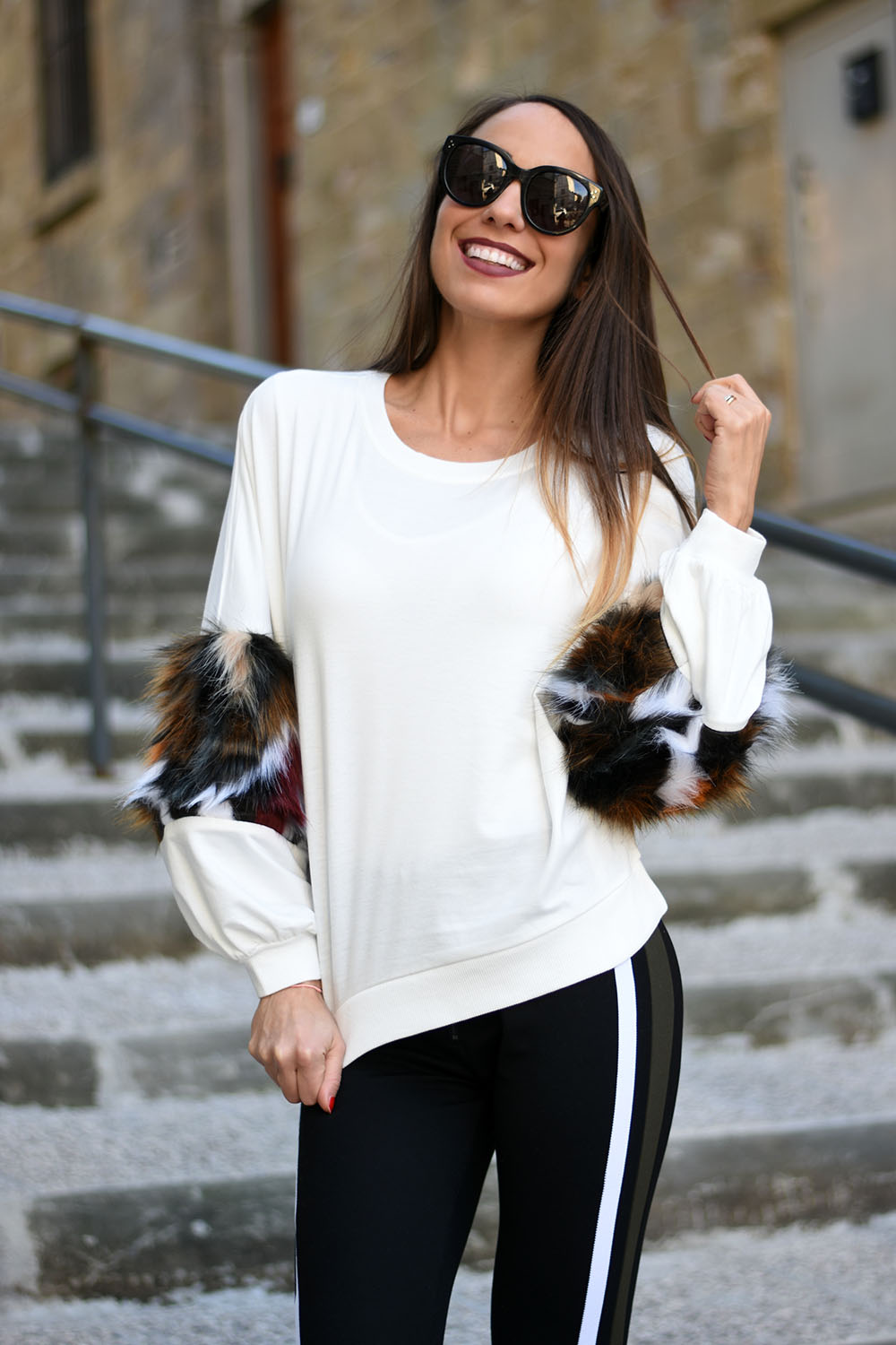 fur sweatshirt