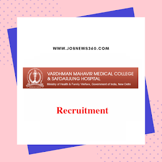Safdarjung Hospital Recruitment 2019 for Junior Resident (310 Vacancies)
