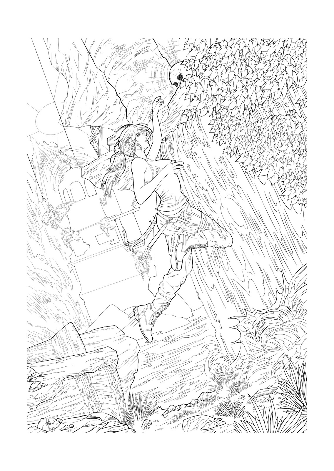 get the full resolution images via flikr - Lara Croft Coloring Pages