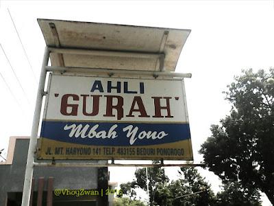 plang alamat Mbah Yono