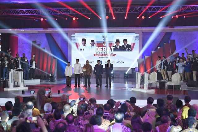 Debat Capres Kedua: Adu Kuat Jokowi dan Prabowo di Freeport dan Utang